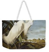 Snowy Heron Weekender Tote Bag by John James Audubon