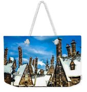 Snowy Hogsmeade Village Rooftops Weekender Tote Bag