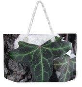 Snowy Ivy Weekender Tote Bag