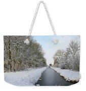 Frozen Scenery Along Canal Weekender Tote Bag