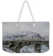 Snowy Lava Fields Iceland Weekender Tote Bag