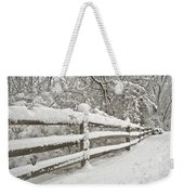 Snowy Morning Weekender Tote Bag by Michael Peychich