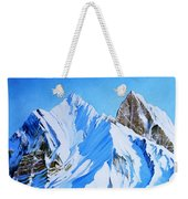 Snowy Mountain Weekender Tote Bag