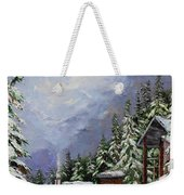 Snowy Mountain Resort Weekender Tote Bag