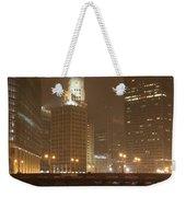 Snowy Night In Chicago Weekender Tote Bag