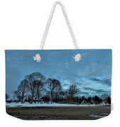 Snowy Obear Park, Beverly Ma, At Dusk Weekender Tote Bag