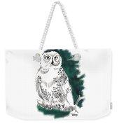 Snowy Owl II Weekender Tote Bag