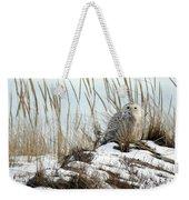 Snowy Owl In Dunes #2 Weekender Tote Bag