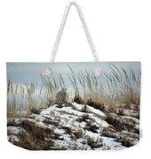 Snowy Owl In The Dunes Weekender Tote Bag