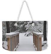 Snowy Path Weekender Tote Bag