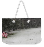Snowy Patriot Quantico National Cemetery Weekender Tote Bag