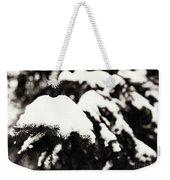 Snowy Pine Branches Weekender Tote Bag