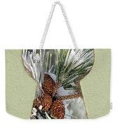 Snowy Pine Keyhole Weekender Tote Bag