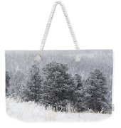 Snowy Pines In The Pike National Forest Weekender Tote Bag