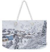 Snowy Resorts Weekender Tote Bag