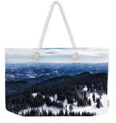 Snowy Ridges - Impressions Of Mountains Weekender Tote Bag