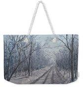 Snowy Road At Dawn  Weekender Tote Bag