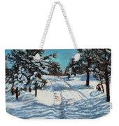 Snowy Road Home Weekender Tote Bag