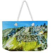 Snowy Rock Mountain Weekender Tote Bag