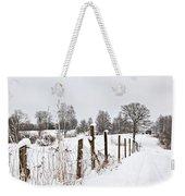 Snowy Rural Landscape Weekender Tote Bag