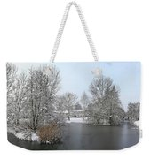 Snowy Scenery Round Canals Weekender Tote Bag