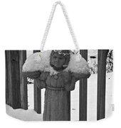 Snowy Statue Weekender Tote Bag