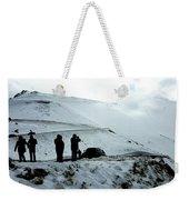 Snowy Switchbacks On Pikes Peak Weekender Tote Bag