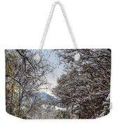 Snowy Trail Weekender Tote Bag