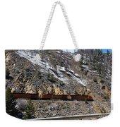 Snowy Train Weekender Tote Bag
