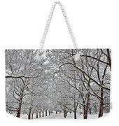 Snowy Treeline Weekender Tote Bag