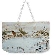 Snowy Village Weekender Tote Bag