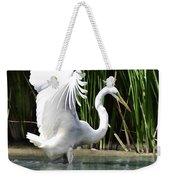 Snowy White Egret In The Wetlands Weekender Tote Bag