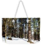 Snowy Wilderness Weekender Tote Bag