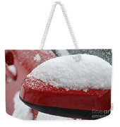 Snowy Wing Mirror Weekender Tote Bag