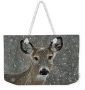 Snowy Winter Deer Weekender Tote Bag
