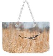Soaring Hawk Over Field Weekender Tote Bag