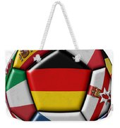 Soccer Ball With Flag Of German In The Center Weekender Tote Bag