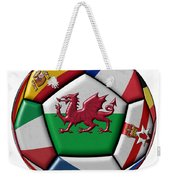 Soccer Ball With Flag Of Wales In The Center Weekender Tote Bag