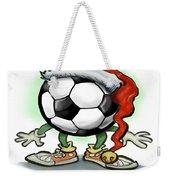 Soccer Christmas Weekender Tote Bag