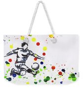 Soccer Player In Action Weekender Tote Bag