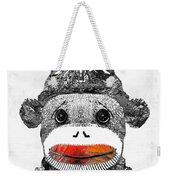 Sock Monkey Art In Black White And Red - By Sharon Cummings Weekender Tote Bag