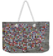 Soda Pop Bottle Cap Map Of The United States Of America Weekender Tote Bag
