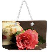 Soft Antique Rose Weekender Tote Bag