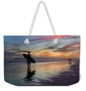 Surfing The Shadows Of Light Weekender Tote Bag