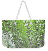Soft Green And Gray Abstract Weekender Tote Bag