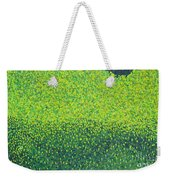Soft Green Wet Trees Weekender Tote Bag