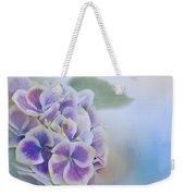 Soft Hydrangeas On Blue Weekender Tote Bag