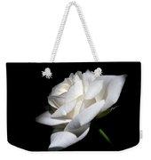 Soft Light White Rose Flower  Weekender Tote Bag