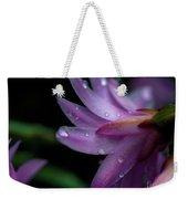 Soft Macro Of Purple Flower Weekender Tote Bag