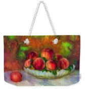 Soft Peaches Still Life Weekender Tote Bag